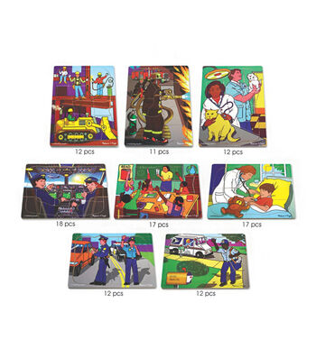 Multi-Cultural Careers Puzzle Set of 8