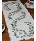 Stamped Lace Edge Table Runner 15\u0022X42\u0022-Ivy