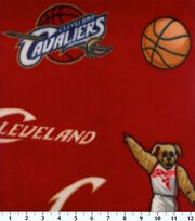 """Cleveland Cavaliers Fleece Fabric 60""""-All Over, , hi-res"""