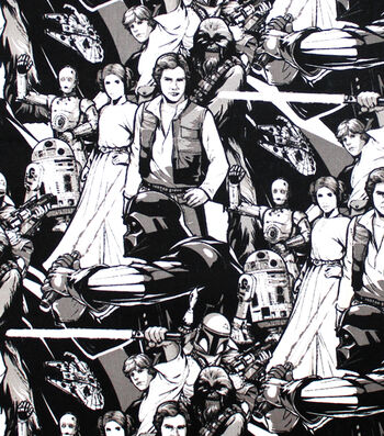 Star Wars Cotton Fabric 44''-Classic Characters