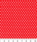 Wide Cotton Fabric-White Dots on Red