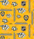Nashville Predators Fleece Fabric 60\u0022-Tossed Logos