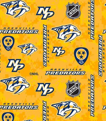 "Nashville Predators Fleece Fabric 60""-Tossed Logos"