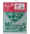 Stamperia Stencil D 7.87\u0027\u0027x5.91\u0027\u0027-Mechanical Heart