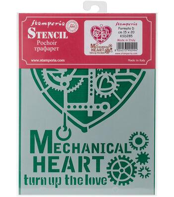 Stamperia Stencil D 7.87''x5.91''-Mechanical Heart