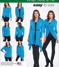 Simplicity Patterns Us1065A-Simplicity Misses\u0027 Wrap, Twist& Tie Knit Cardigan-Xs-S-M-L-Xl