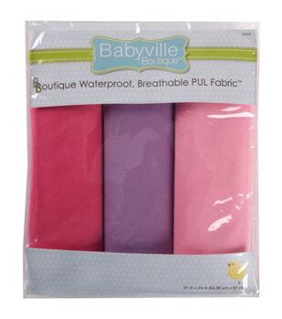 "Babyville Boutique 21""x24"" Solid Waterproof Diaper Fabric Girl"