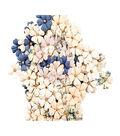 Prima Marketing Georgia Blues 120 pk 0.5\u0027\u0027 Mulberry Paper Flowers-Turner