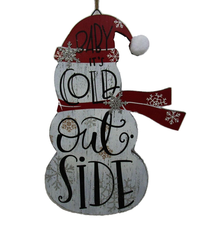 Makeru0027s Holiday Christmas Snowman Wall Decor Baby Itu0027s Cold Outside
