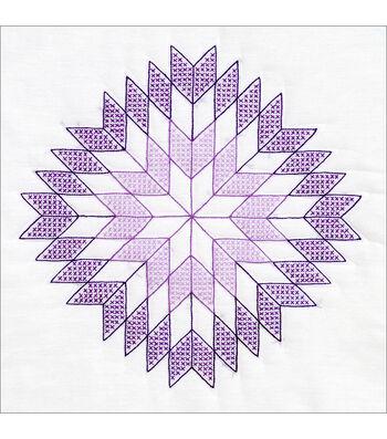 "Stamped White Quilt Blocks 18""X18"" 6/Pkg-Lone Star"