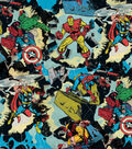 Marvel Comics Cotton Fabric -Retro Smashing