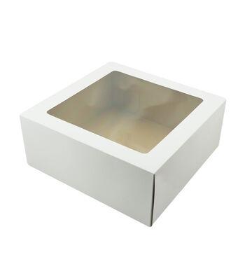 """Corrugated Cake Box With Window 14.25""""X14.25""""X6"""" 2/Pkg"""