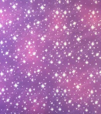 "Doodles Juvenile Apparel Cotton Fabric 57""-Pink Purple Ombre Stars"