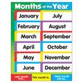 Months of the Year Stars Learning Chart 17\u0022x22\u0022 6pk