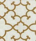Waverly Print Fabric Linear-Array/Camel Swatch