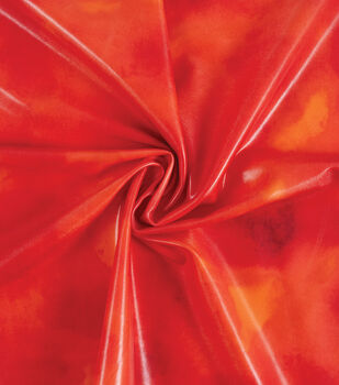 Yaya Han Cosplay Shibori Watercolor Foil Spandex Fabric 57''-Red