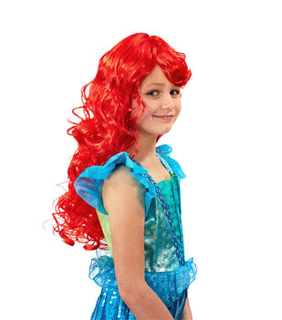Maker's Halloween 21.5'' Children's Under the Sea Wig-Red