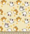 Big Eyed Kitty Print Fabric