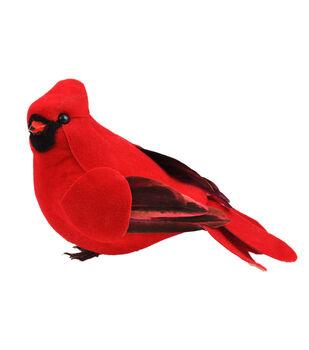 """Feather Cardinal 4.25"""" Bird-1 pc"""