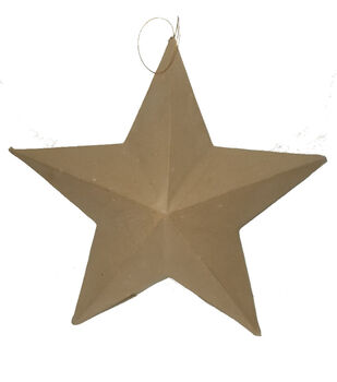 Paper Mache 3D Star