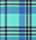 Snuggle Flannel Fabric 42\u0027\u0027-Aqua Plaid