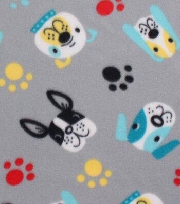 "Blizzard Fleece Fabric 59""- Doggie Faces"