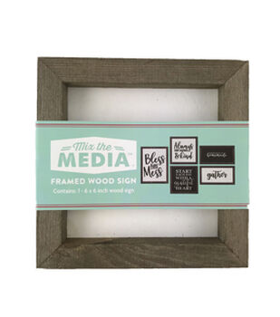 Mix the Media 6''x6'' Rustic Wood Frame