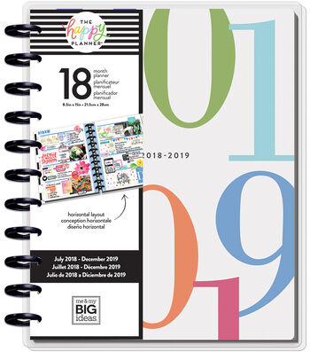 Happy Planner 18-Month Dated Big Planner-Colorblock