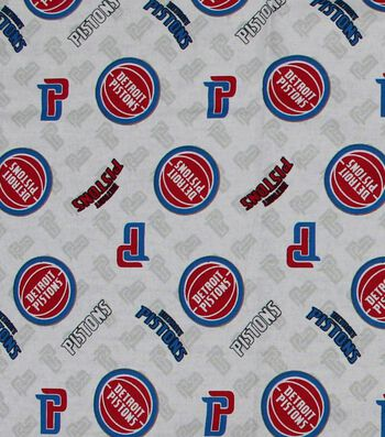 Detroit Pistons Cotton Fabric -Logo Toss