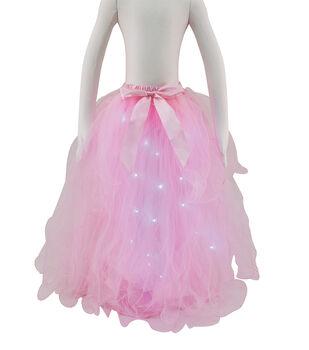 Maker's Halloween Child Long Tutu with LED Lights-Pink