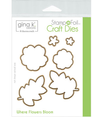 Gina K Designs StampnFoil 6 pk Craft Dies-Where Flowers Bloom