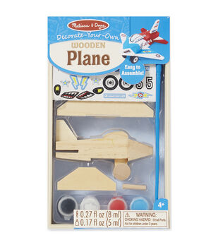 Melissa & Doug Decorate-Your-Own Wooden Kit-Airplane