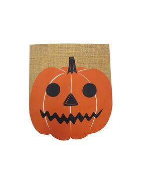 Maker's Halloween 12''x14'' Burlap Flag-Figural Jack-o'-lantern