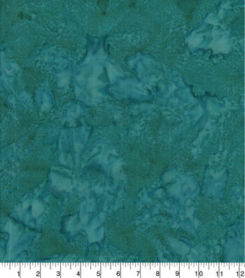 Cotton Fabric 44''-Dark Teal Tonal Batik