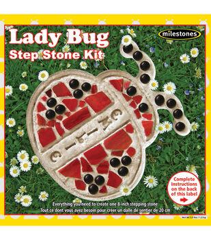 Milestones 8'' Mosaic Stepping Stone Kit-Lady Bug