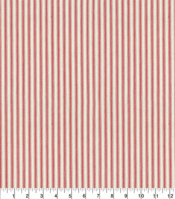 "Waverly Multi-Purpose Decor Fabric 55""-Classic Ticking Americana"
