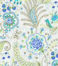 Dena Upholstery 8x8 Fabric Swatch-Hidden Charms/Tidepool