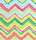 Snuggle Flannel Fabric -Palm Beach Chevron