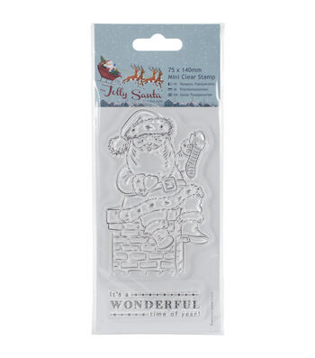 Papermania Jolly Santa Mini Clear Stamps-Chimney