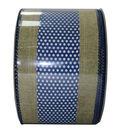 Decorative Ribbon 2.5\u0027\u0027 X 15\u0027-Indigo Dot Stripe