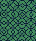 Snuggle Flannel Fabric -Grn & Navy Geometric