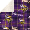 Minnesota Vikings Sherpa & Fleece Fabric-Plaid