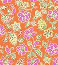 Jennifer Paganelli Cotton Fabric-Orange Floral