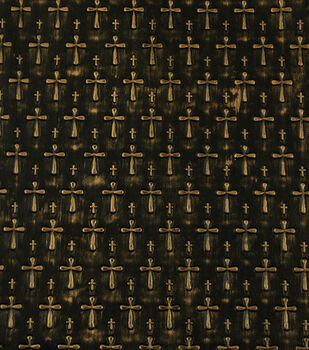 Yaya Han Collection Textured Gold Cross