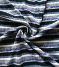 Ribbed Knit Fabric -Striped