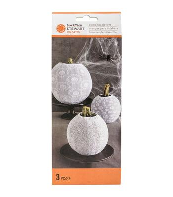 Martha Stewart CraftsWhite Pumpkin Sleeves 3/Pkg-Spooky Night