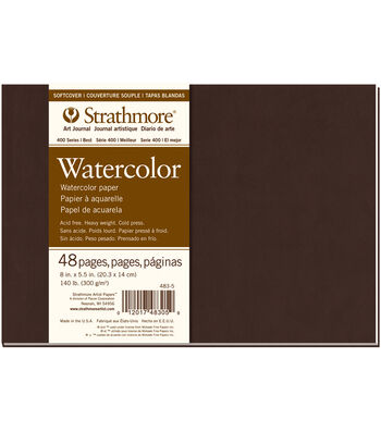 Strathmore Soft Cover Watercolor Journal Book With 48 Pages 8''x5.5''