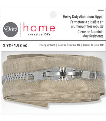 "Dritz Home 72"" Heavy Duty Zipper-Beige"