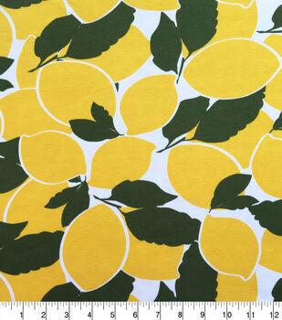Knit Prints Pima Cotton-Yellow Lemons