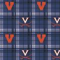 University of Virginia Cavaliers Fleece Fabric -Plaid